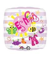 """18"""" Es Nina Baby Clothes Balloon"""