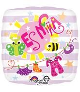"""28"""" Jumbo Es Nina Baby Clothes Balloon"""