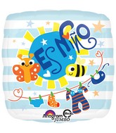 "28"" Jumbo Es Nino Baby Clothes Balloon Packaged"