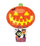 """27"""" Junior Shape Pumpkin Hot Air Balloon Balloon"""