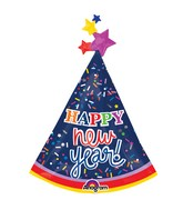 """36"""" SuperShape New Years Party Hat Balloon"""