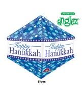 "21"" UltraShape Anglez Happy Hanukkah Balloon Packaged"