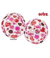 "16"" Orbz Clear Sweet Candy Balloon Packaged"