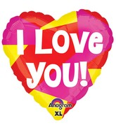 "21"" ColorBlast Love You Pink, Yellow & Red Balloon"