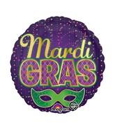 """18"""" Mardi Gras Confetti Balloon"""