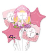 Bouquet Communion Blessings Pink Balloon Packaged