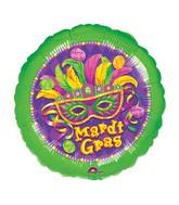 Mardi Gras Mylar Balloons