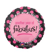 "18"" Another Year of Fabulous Balloon"