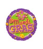 "18"" Mardi Gras Balloon Packaged"