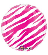 "18"" Pink Zebra Stripes Print"