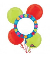 Bouquet Personalized Cabana Dots Balloon Packaged