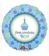 """18"""" Sweet Little Cupcake Boy Mylar Balloon"""