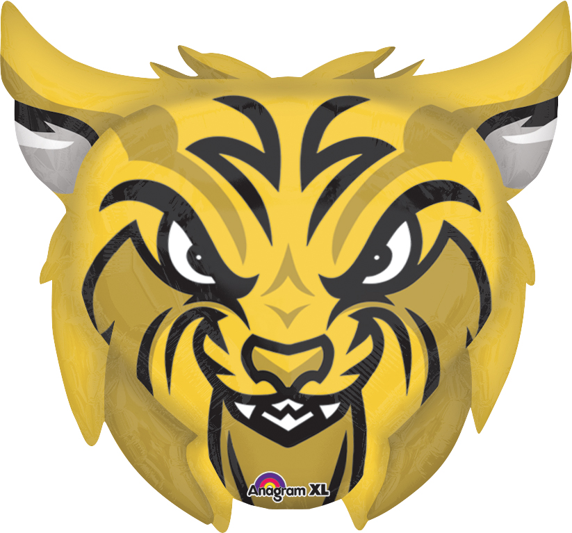 """24"""" Jumbo Team Mascot Bobcats Balloon"""