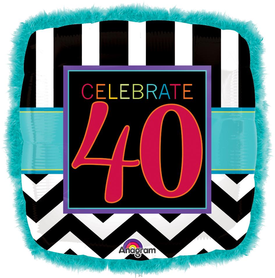 "32"" Doo Dad Birthday Celebration 40 Balloon"