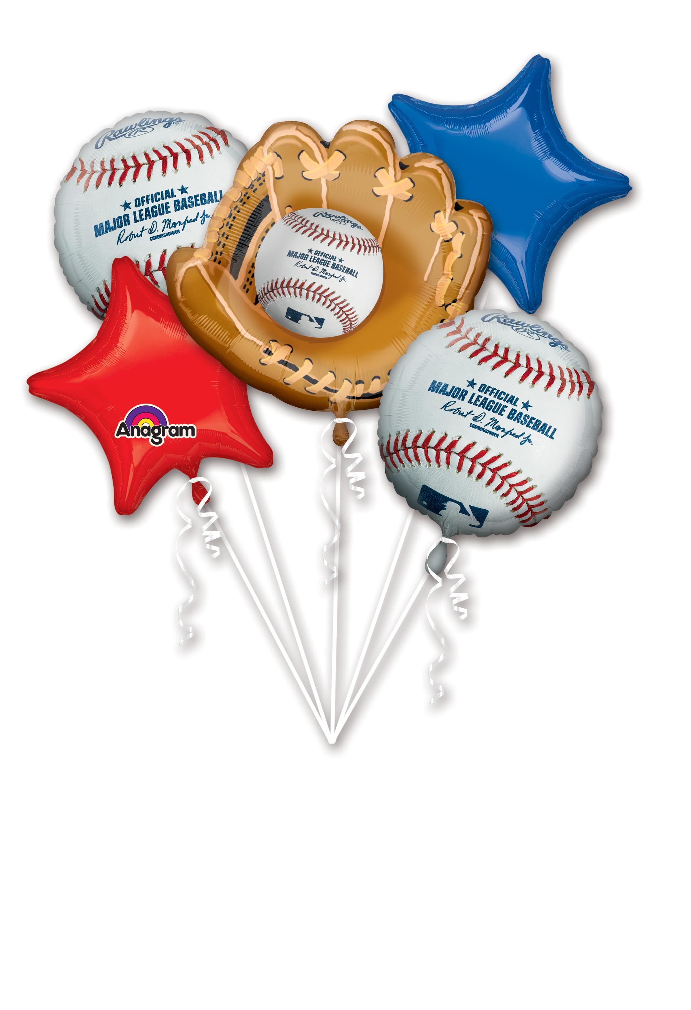 Bouquet Major League Baseball Balloon Packaged