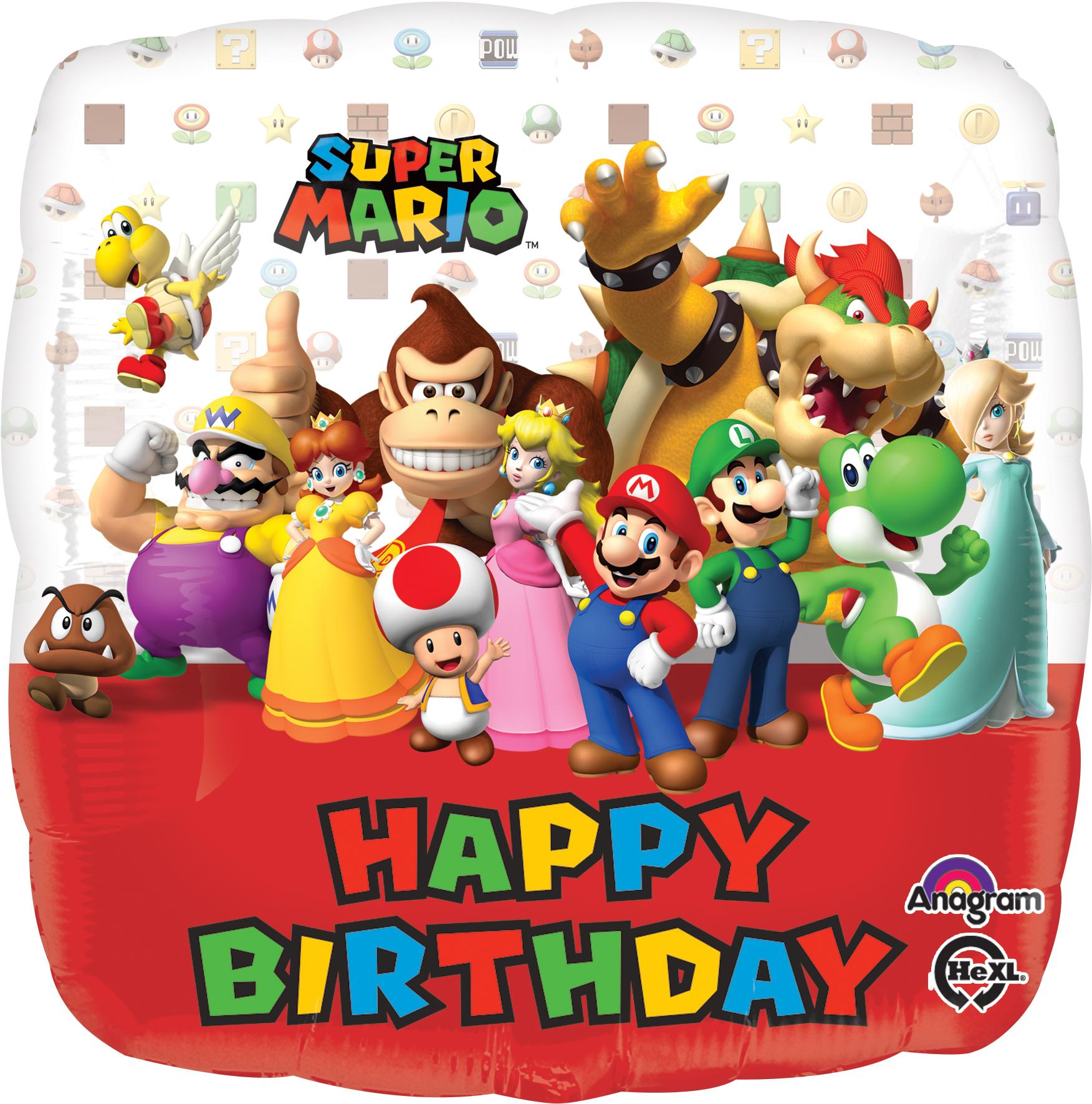 """18"""" Mario Bros Balloon Packaged"""