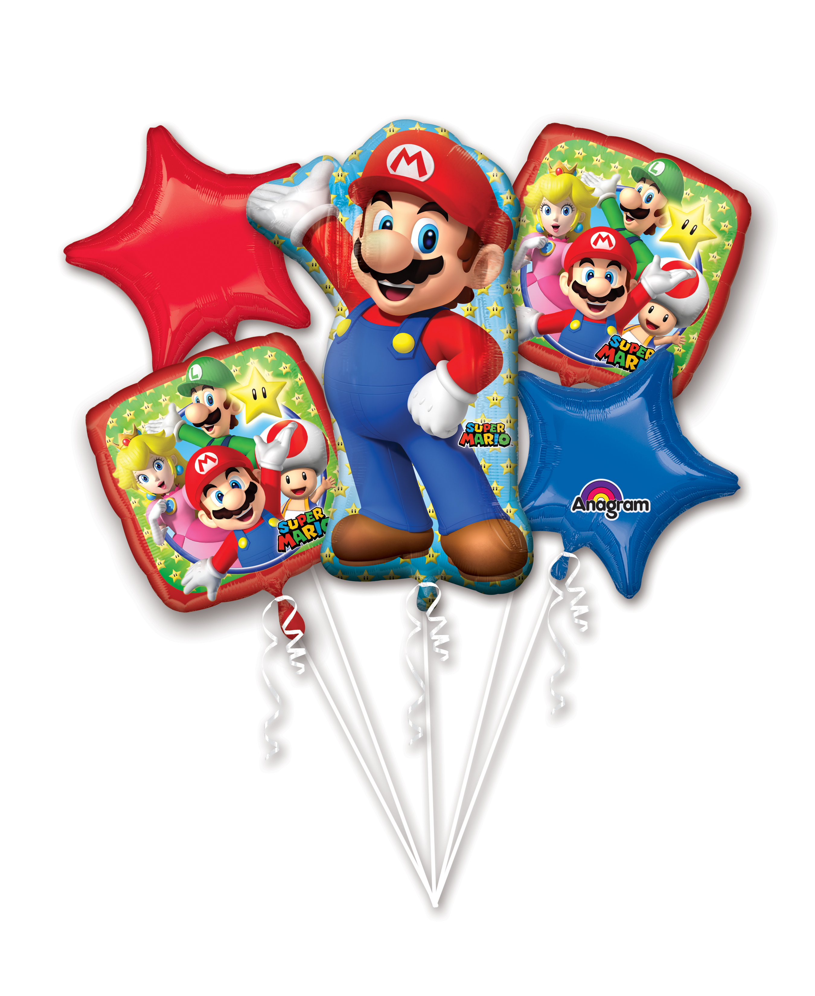 Bouquet Mario Bros Balloon Packaged