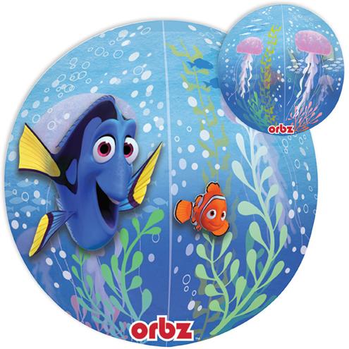 "16"" Jumbo Finding Dory Balloon Orbz Packaged"