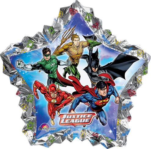 "34"" Jumbo Justice League Shape Balloon Packaged"