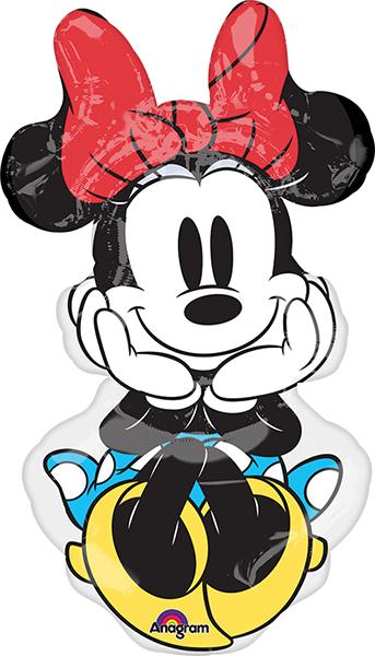 """34"""" Jumbo Minnie Rock the Dots Balloon"""