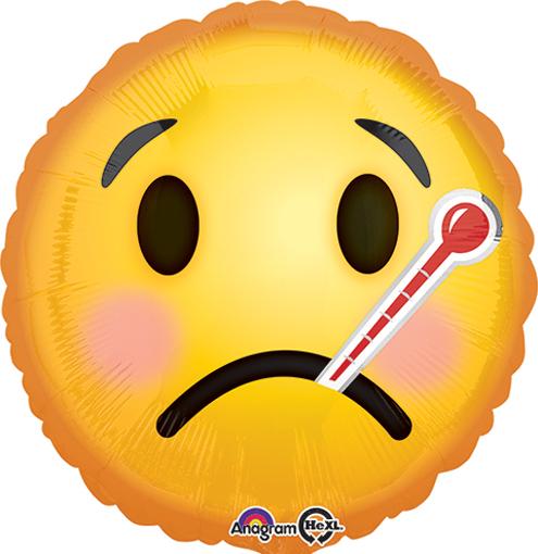 "18"" Emoji Get Well Soon Balloon Packaged"