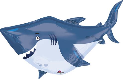 """40"""" Jumbo Ocean Buddies Shark Balloon"""
