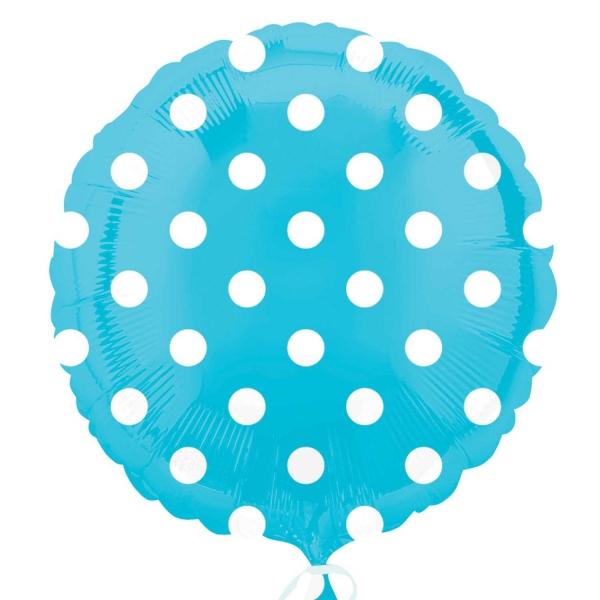 "18"" Caribbean Blue Dots Balloon"