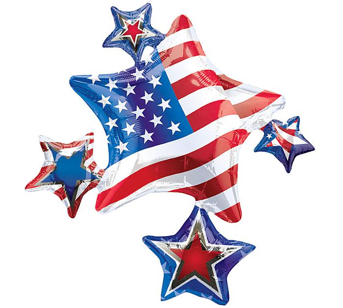 """35"""" American Spirit Cluster Patriotic"""