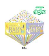 "21"" Jumbo Anglez Baby Feet Gender Neutral Balloon Packaged"