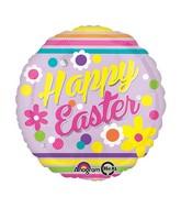 "18"" Happy Easter Stripes Balloon"