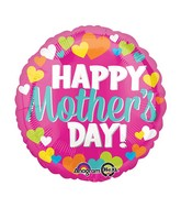 """18"""" Happy Mother's Day Hearts Balloon Packaged"""