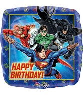 "18"" Justice League Happy Birthday Balloon"