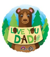 "18"" Love You Dad Bear Balloon"