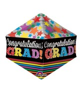 "21"" Anglez Jumbo Congratulations Grad Stars Packaged"