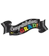 "40"" Jumbo Congratulations Grad Banner Balloon"