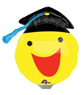 Airfill Only Happy Smiley Face Grad Balloon
