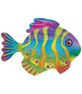 "33"" Jumbo Colorful Fish Balloon"