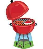 "36"" Jumbo Red Grill Balloon Packaged"