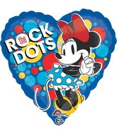 """18"""" Minnie Rock the Dots Balloon Packaged"""