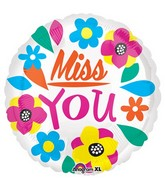 "21"" Junior Shape Miss You Balloon"