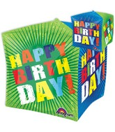 """15"""" Jumbo Happy Birthday Bursts Balloon Packaged"""