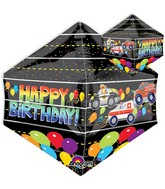 "21"" Jumbo Happy Birthday Rescue Vehicles Balloon Packaged"