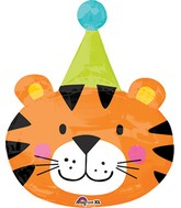 "31"" Jumbo Circus Tiger Balloon Packaged"
