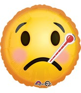 """18"""" Emoji Get Well Soon Balloon"""