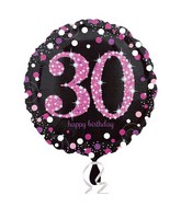 "18"" Pink Celebration 30 Balloon Packaged"