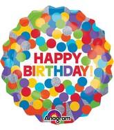 """28"""" Jumbo Primary Rainbow Birthday Balloon"""