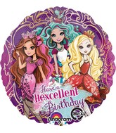 "18"" Ever After High Happy Birthday Balloon Packaged"