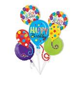 Bouquet Birthday Balloon Bash Balloon Packaged