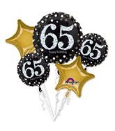 Bouquet Sparkling Birthday 65 Balloon Packaged