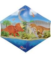 """16"""" Jumbo Dino World Balloon Packaged"""
